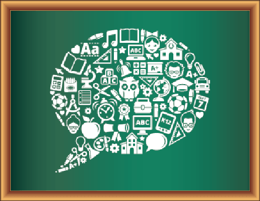 Education & Back to School Blackboard Collection: Speech Bubble | Clipart