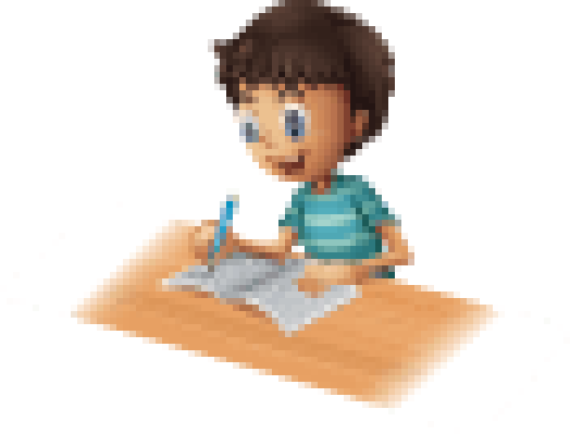 Boy Writing | Clipart