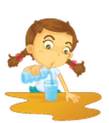 Different Actions of A Young Girl -02 | Clipart
