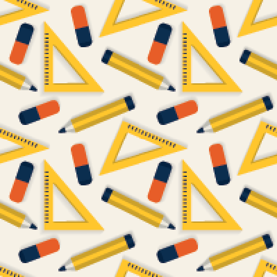 Seamless Background with Stationery  Pattern | Clipart