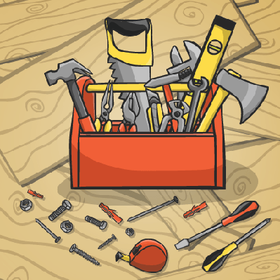 Working Toolbox and instruments Kit | Clipart