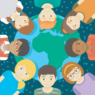 Kids of The Earth | Clipart
