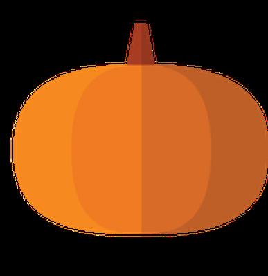 Autumn | Flat Color Icons - Pumpkin | Clipart
