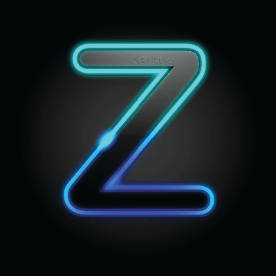 Glowing Font -  Z | Clipart