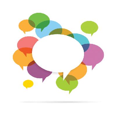 Colorful Speech Bubble Copyspace | Clipart