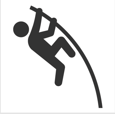 Athletics and Gymnastics Icon Set - Pole Vault | Clipart
