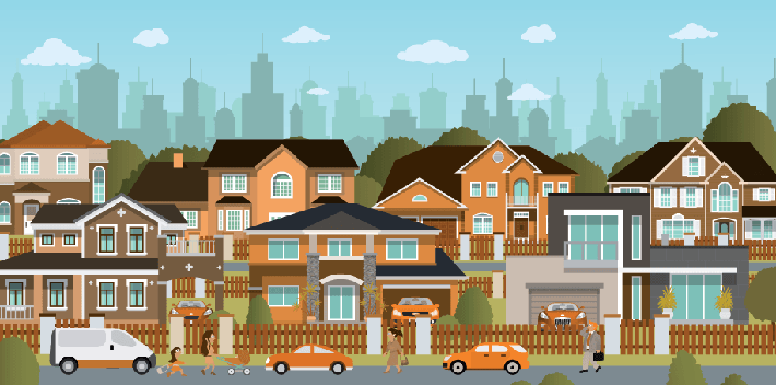 Cities - Suburb | Clipart