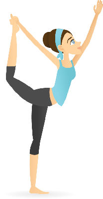 Lord of the Dance Pose (Natarajasana) | Clipart
