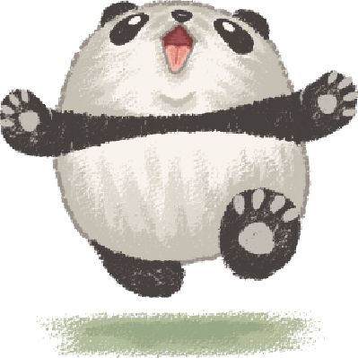 Happy Panda | Clipart