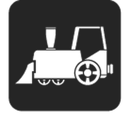Travel and Transportation - Black & White - Train | Clipart