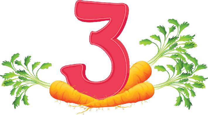 Three Carrots | Clipart