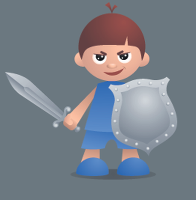 Brave Little Knight | Clipart