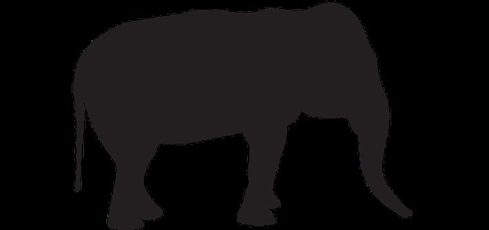 Animal Silhouettes - Elephant | Clipart