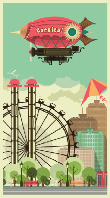 Cities - Urban Amusement Park | Clipart