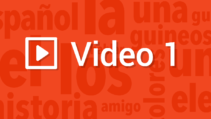 Speaking - Structures | Pronunciation Video | Supplemental Spanish Grades 3-5