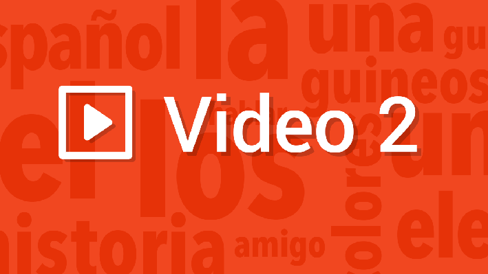 Speaking - Vocabulary   Pronunciation Video   Supplemental Spanish Grades 3-5