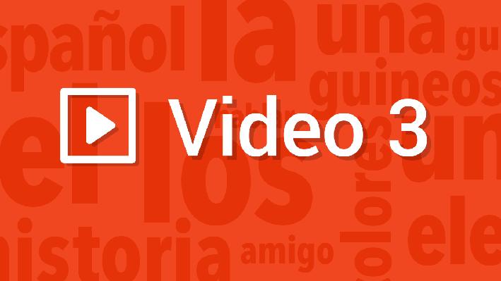 Media - Main Idea and Details | Pronunciation Video | Supplemental Spanish Grades 3-5