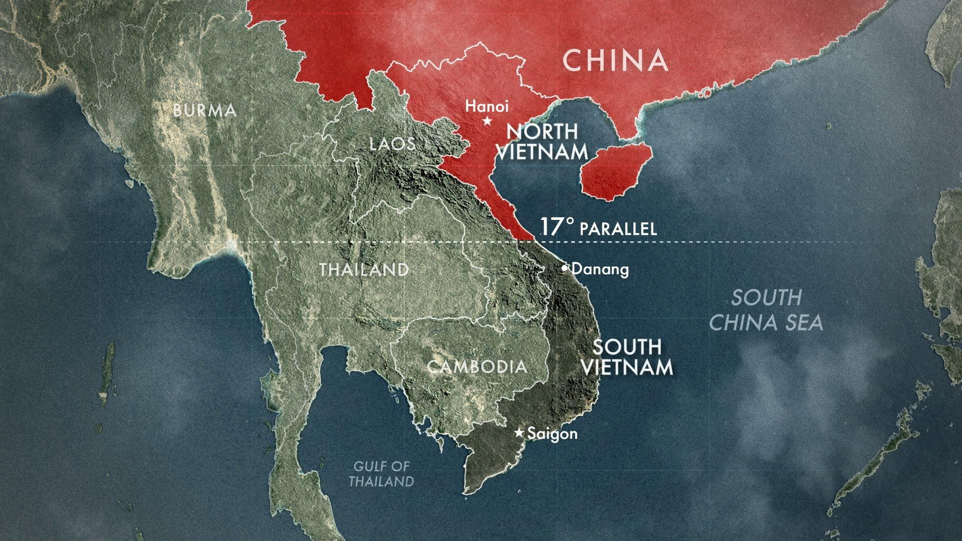 Map of Partitioned Vietnam | The Vietnam War | PBS LearningMedia