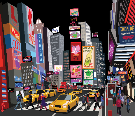 Street in New York City | Clipart