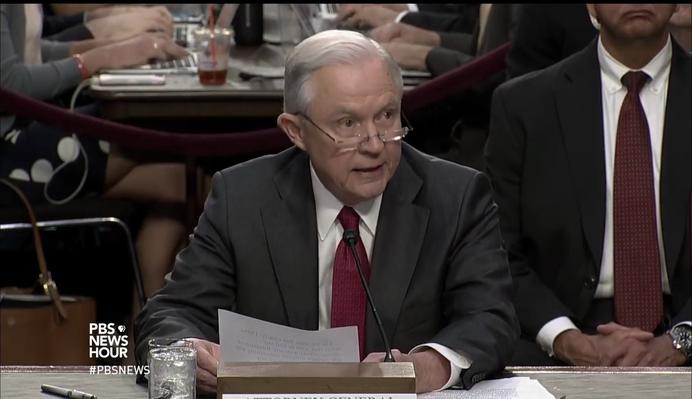 Jeff Sessions' Dramatic Senate Testimony | PBS NewsHour