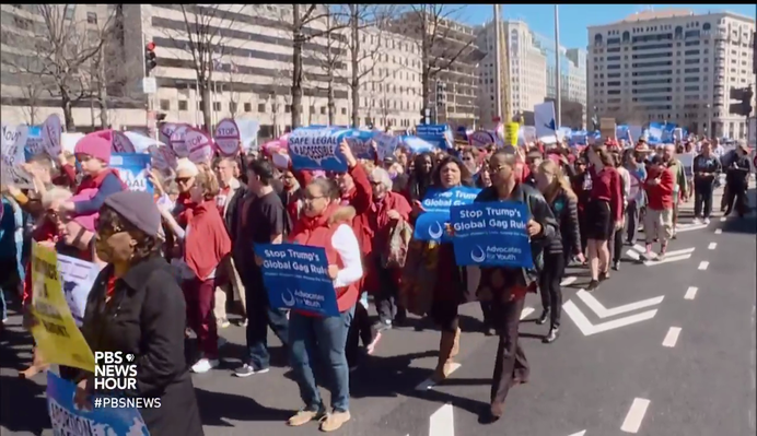 Protesters Continue Fight for Equal Rights on International Women's Day | PBS NewsHour
