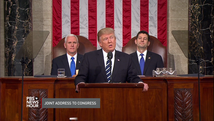 Trump Gives First Joint Address to Congress | PBS NewsHour