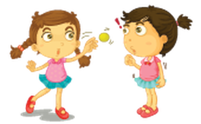 Different Actions of A Young Girl -08 | Clipart