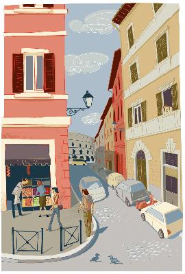 Rome Street Corner | Clipart