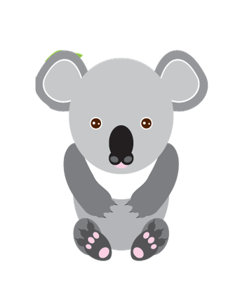 Animals of Australia - Koala Bear | Clipart