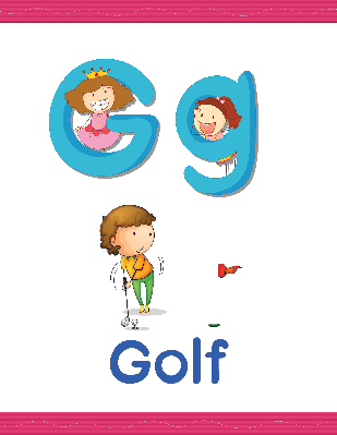 Alphabet Worksheets - G for Golf | Clipart