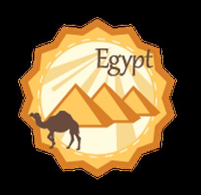 Travel Labels or Badges - Egypt | Clipart