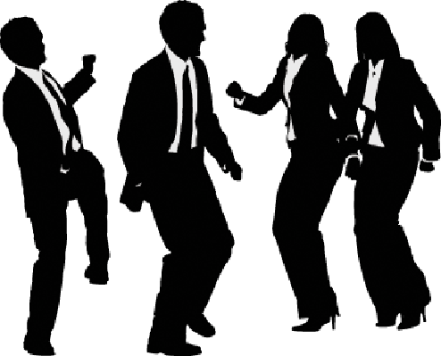 Silhouette of Businesspeople Dancing | Clipart