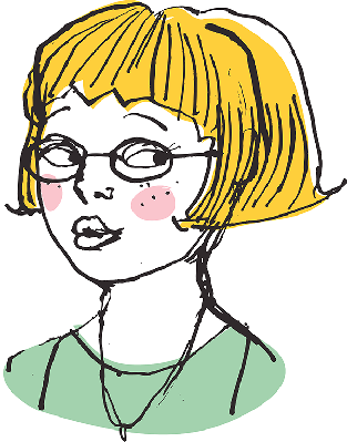 Blonde Girl Wearing Glasses | Clipart
