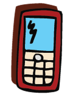 Electronics - Cell Phone 4 | Clipart