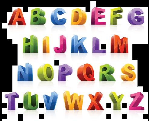 Colorful Font   Clipart