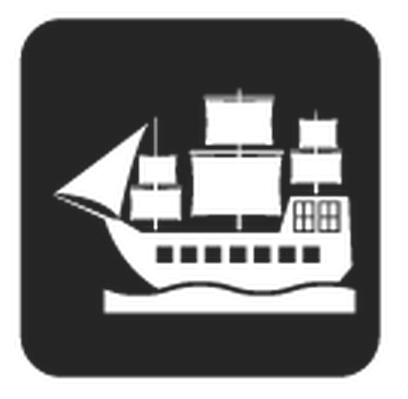 Travel and Transportation - Black & White - Boat | Clipart