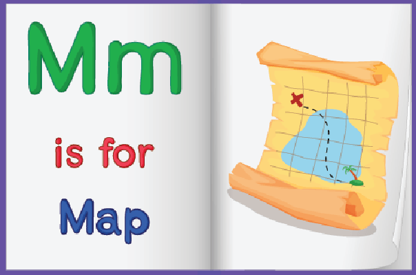 Map in A Book | Clipart
