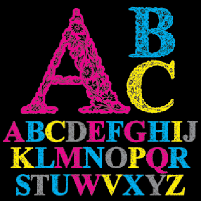 Alphabet: Beautiful Floral Letters Font | Clipart