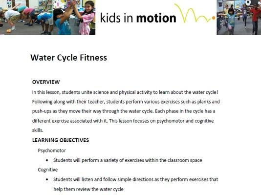 Water Cycle Fitness Lesson Plan