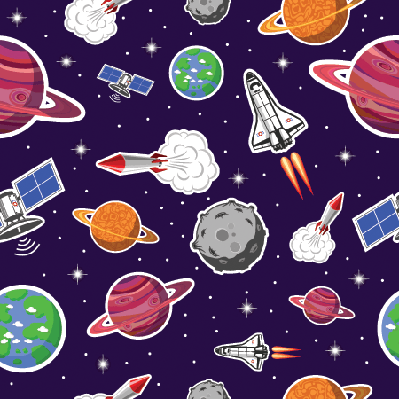 Space: Seamless Pattern | Clipart
