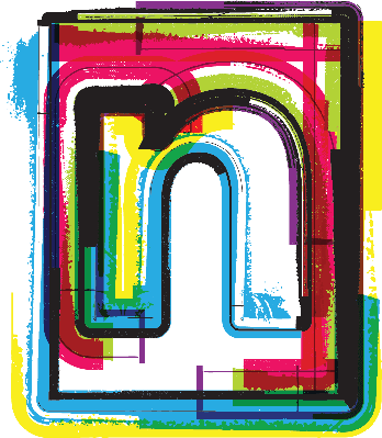 Colorful Grunge Font Letter N | Clipart