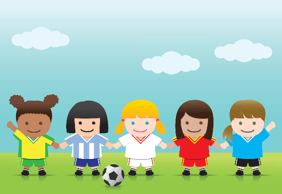 Soccer Girls World League | Clipart