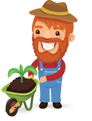 Farmers Cartoon Characters Set 11   Clipart