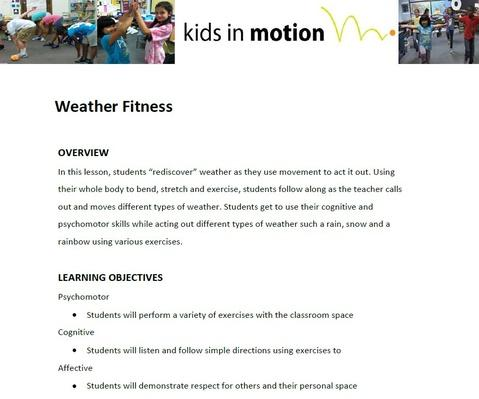 Weather Fitness Lesson Plan