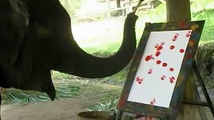 Elephants Can Paint Too!