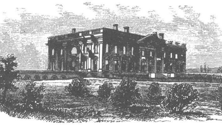 Burned White House Image