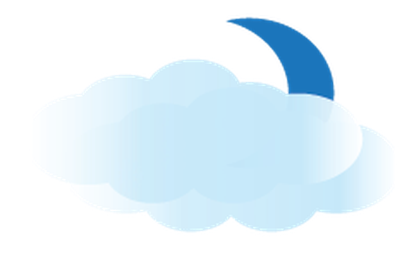 Weather - Moon and Clouds | Clipart