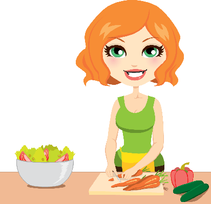 Healthy Vegetable Salad | Clipart
