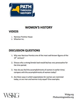 Women's History Discussion Questions