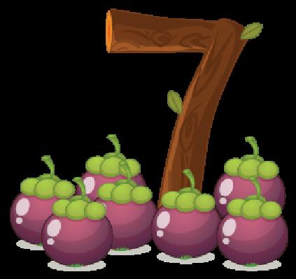 Seven Eggplants | Clipart